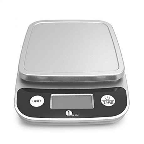 1byone-Digital-Kitchen-Scale-Precise-Cooking-Scale-and-Baking-Scale-Multifunction-with-Range-From-004oz-1g-to-11lbs-Elegant-Black-0