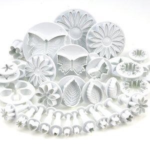 33-piece-cake-decorating-sugarcraft-set-with-cutters-plungers-for-flowers-leaf-shapes-by-Kurtzy-TM-0