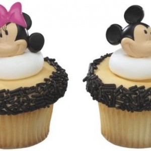 36-Mickey-Friends-Mickey-Minnie-Rings-Designer-CakeCupcake-Topper-New-0