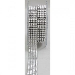 4-Row-Acrylic-Rhinestone-Diamond-Cake-Ribbon-Banding-2-Yards-0