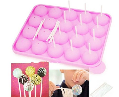 Allforhome-20-Pops-Silicone-Tray-Pop-Cake-Stick-Mould-Lollipop-Party-Cupcake-Baking-Mold-0
