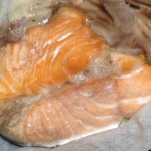 baked salmon fish head