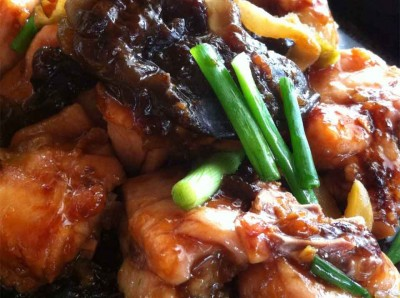 Black Bean Sauce Steam Chicken