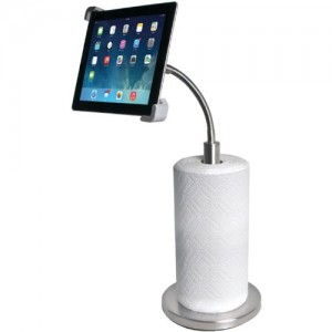 CTA-Digital-Paper-Towel-Holder-with-Gooseneck-Stand-for-iPad-and-Tablets-PAD-PTH-0