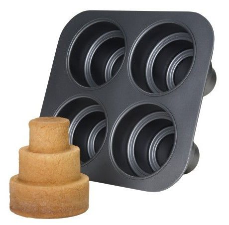Chicago-Metallic-Multi-Tier-Cake-Pan-4-Cavity-106-x-960-x-45-Inch-0