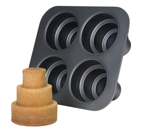 Chicago-Metallic-Multi-Tier-Cake-Pan-4-Cavity-106-x-960-x-45-Inch-0