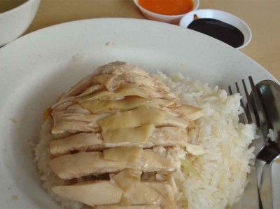 Thumbs up chicken rice stall.