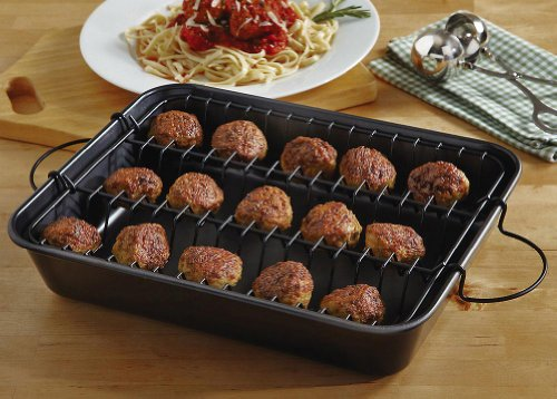 Collections-Etc-2-Piece-Meatball-Baker-Set-0