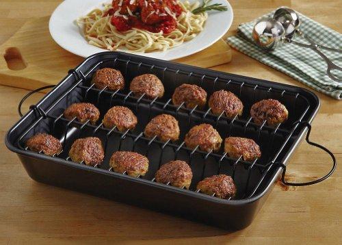 Collections-Etc-2-Piece-Meatball-Baker-Set-0