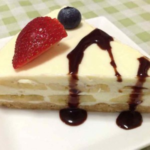 creamy banana cheesecake
