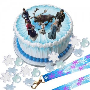 Disney-Frozen-Cake-Decoration-Set-Topper-Figures-Rings-Birthday-Lanyard-0