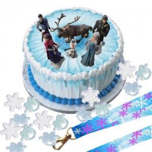 Disney-Frozen-Cake-Decoration-Set-Topper-Figures-Rings-Birthday-Lanyard-0