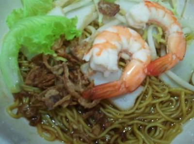Dry stirred noodles