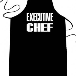 EXECUTIVE-CHEF-Funny-Apron-Long-Length-30-x-Full-Width-28-Kitchen-Aprons-for-Men-Women-Teens-Unisex-One-Size-Fits-Most-Cotton-Polyester-Blend-with-Adjustable-Neck-Great-gift-idea-0