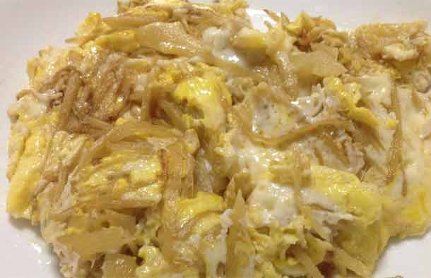 fried egg with ginger slide