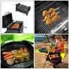 Grill-Mat-Set-of-5-Non-Stick-BBQ-Grill-Mats-PTFE-Teflon-Baking-sheets-Heavy-Duty-Reusable-and-Dishwasher-Safe-Easy-Clean-and-Easy-Use-on-Gas-Charcoal-Electric-Grill-Black-0-2