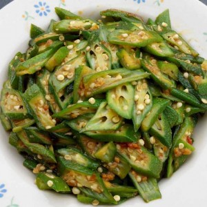 ladyfinger with sambal chilli recipe