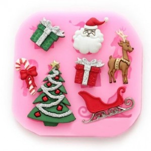 Longzang-534-mini-Christmas-Fondant-Mold-Silicone-Sugar-mold-Craft-Molds-DIY-gumpaste-flowers-Cake-Decorating-0
