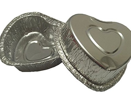 MYStar-Heart-Shape-Disposable-Aluminum-Foil-Mini-CupcakeMuffin-Baking-Cups-105-ml-Pack-of-60-0