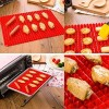 New-Silicone-Baking-Mat-Sheet-Non-slip-Pyramid-Square-DesignHealthy-Cooking-Mat-Professional-Heat-Resistant-Fat-reducing-11-x-155-0-6