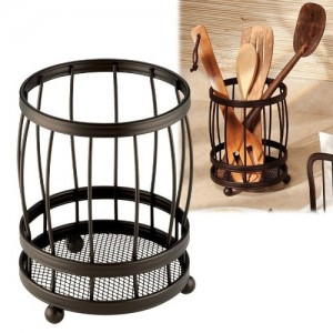 New-York-Kitchen-Counter-Utensil-Holder-Caddie-Organizer-Bronze-Finish-0