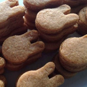 peanut butter cookies rabbit mould
