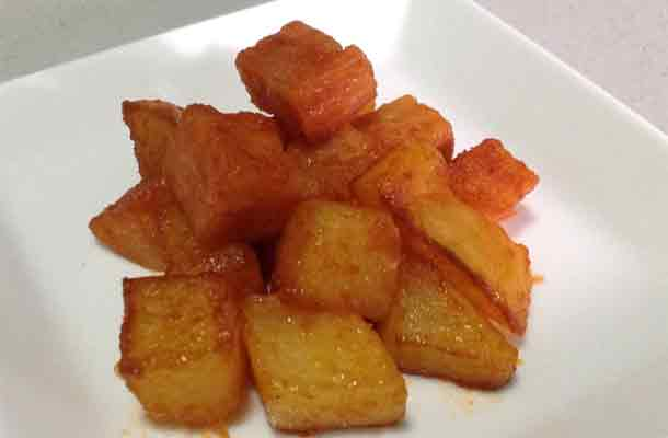 how to cook luncheon meat with potatoes