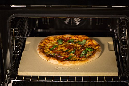 ROCKSHEAT Pizza Stone Made of Cordierite for Pizza & Bread Baking Grilling. Perfect for Oven or ...