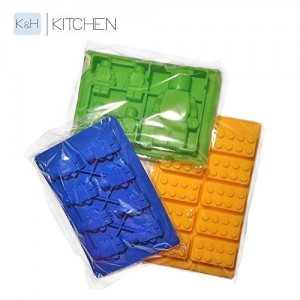 SILLY-ICE-CUBE-TRAYS-CANDY-MOLDS-Silicone-Ice-Cube-Trays-Or-Candy-Molds-For-LEGO-Lovers-DUPLO-Building-Bricks-and-Minifigures-In-3-Seizes-Set-Of-3-Different-Molds-Trays-And-Colors-Make-Your-Own-Sweets-0