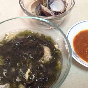 seaweed soup with fresh white clams recipe