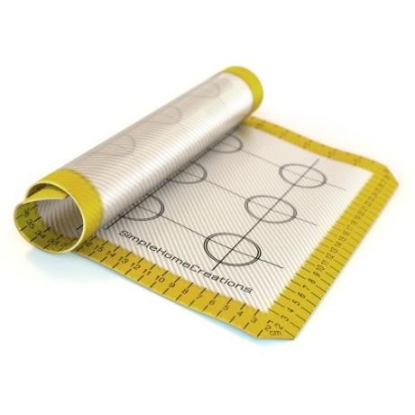 Simple-Home-Creations-Nonstick-Silicone-Fiberglass-Baking-Mat-Half-Pan-30cm-X-40cm-White-Yellow-0