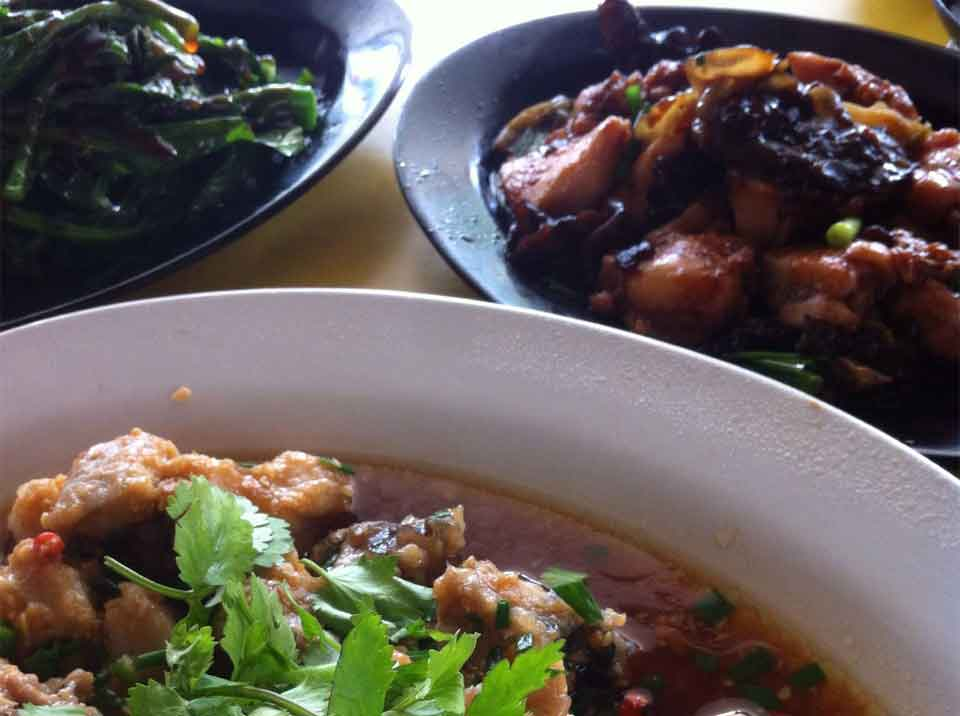 Cantonese Steam fish Vegetables at Haig Road