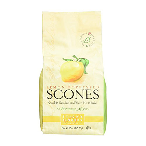 Sticky Fingers English Scone Mix Lemon Poppyseed 15oz
