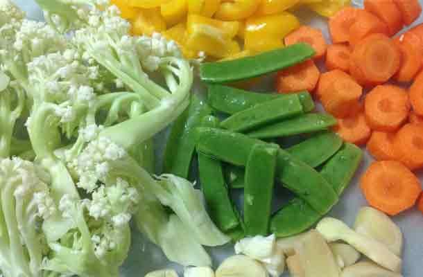 stir fry Taiwan cauliflower slide