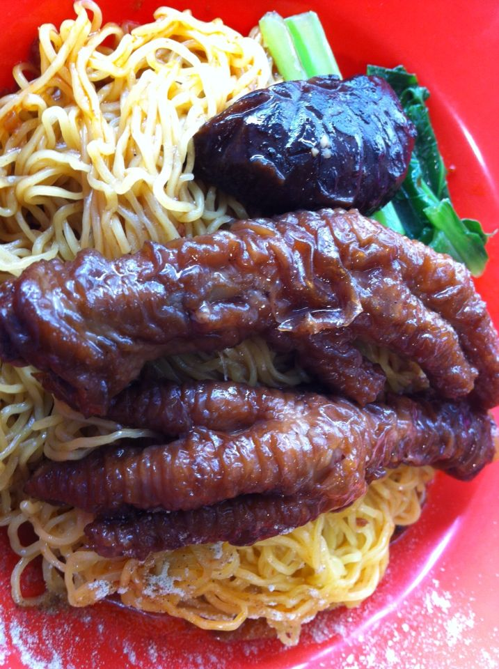 Cantonese-style Chicken Feet Noodle - Bedok North Food Centre, Block 538 Bedok North Street 3